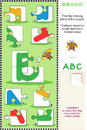 ABC learning educational puzzle Stock Photos