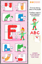 ABC learning educational puzzle Royalty Free Stock Photos