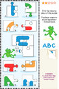ABC learning educational puzzle Royalty Free Stock Photography