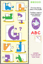 Abc learning educational puzzle letter g ghost what s missing visual to learn with fun the letters of english alphabet is for Royalty Free Stock Photo