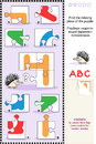 Abc learning educational puzzle letter h hedgehog what s missing visual to learn with fun the letters of english alphabet is for Royalty Free Stock Photography