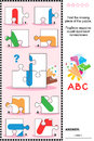 ABC learning educational puzzle with letter I Royalty Free Stock Photo