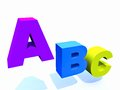 Abc letters a b c in colors Royalty Free Stock Photos