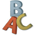 Abc letters an illustration with the of the Royalty Free Stock Photography
