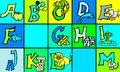 stock image of  Abc letters with pictures in german and english part 1 first version
