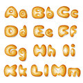 Abc made of bread cakes set Royalty Free Stock Photos
