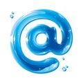 ABC series - E-mail address alias - At Royalty Free Stock Photo