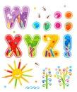 Abc set letters W - Z plus
