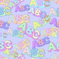 Abc symbol vector pattern. Kids study background.
