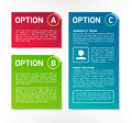 Abc vector colorful option banners a b c Stock Photography