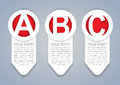 ABC vertical vector progress icons in White Royalty Free Stock Photos