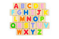 ABC wooden alphabet, English letters Royalty Free Stock Photo