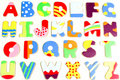 ABC wooden alphabet puzzle board Royalty Free Stock Photo