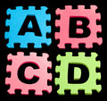 ABCD Alphabet learning blocks isolated Black Royalty Free Stock Photo