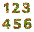 ABCDEF,  christmas tree font Royalty Free Stock Photos
