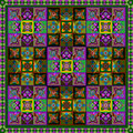 Abctract pattern abstraction of colored squares in a square Royalty Free Stock Images