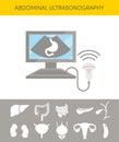 Abdominal ultrasonography concept