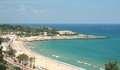 Abeach in tarragona spain aerial view of a beach Royalty Free Stock Image