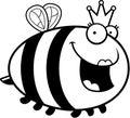 Abelha de rainha dos desenhos animados Fotografia de Stock