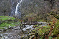 Aber Falls, Snowdonia National Park, North Wales Royalty Free Stock Photo