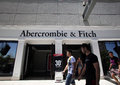 Abercrombie and fitch clothing las vegas nevada fri june shoppers walk past an store in las vegas nevada on friday june Stock Image