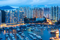 Aberdeen in hong kong at night Stock Image