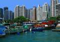 Aberdeen hong kong view of the day Royalty Free Stock Photo
