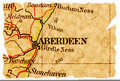 Aberdeen old map Royalty Free Stock Photography