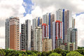Aberdeen's colorful high-rise apartments in Hong Kong Royalty Free Stock Photo