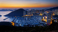 Aberdeen typhoon shelters hong kong beautiful sunset Stock Photos