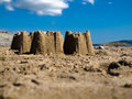 Aberdesach Sand Castles Stock Photos