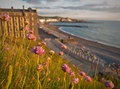 Aberystwyth Seafront in Summer Royalty Free Stock Photo