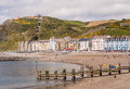 Aberystwyth seaside holiday resort in wales uk the beach at the of aberyswyth with constitution hill and the cliff railway the Stock Image