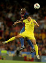 Abidal vies with Nilmar Stock Photo