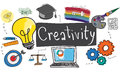 Ability Capability Creativity Drawing Icon Illustration Concept Royalty Free Stock Photo