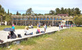Abkhazia the resort pitsunda april sanatorium complex ashore black sea embankment of climatic Stock Images