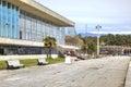 Abkhazia the resort pitsunda may sanatorium complex ashore black sea embankment of climatic Royalty Free Stock Images
