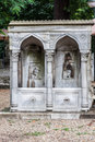 Ablution fountain istanbul a marble adorned in the archaeological museum of turkey Stock Images