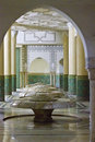 Ablution hall of the mosque of hassan ii in casablanca morocco interiors Royalty Free Stock Photography