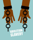 Abolition of slavery hands black slave with broken chains shat shattered shackles handcuffs long awaited freedom liberation from Stock Photos