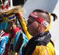 Aboriginal dancer at national celebration june edmonton alberta Royalty Free Stock Images