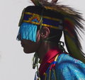 Aboriginal dancer at national celebration june edmonton alberta Royalty Free Stock Photo