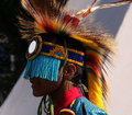 Aboriginal dancer at national celebration june edmonton alberta Royalty Free Stock Photography