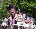 Aboriginal dancer at national celebration june edmonton alberta Royalty Free Stock Image