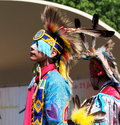 Aboriginal dancer at national celebration june edmonton alberta Stock Photo