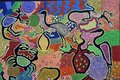 Aboriginal dot painting artwork in Derby Kimberley Western Australia Royalty Free Stock Photo