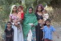 Aboriginal family azari india january tribal woman poses with her children in cattel fair in azari village mostly makes Stock Photo