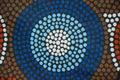 Aboriginal garment in detail close up dots Stock Photos
