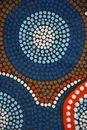 Aboriginal garment in detail close up dots Stock Images