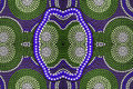 Aboriginal garment in detail close up dots Royalty Free Stock Images